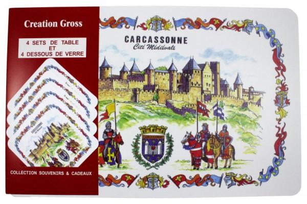 """1537 Tischset """"Carcassonne"""""""