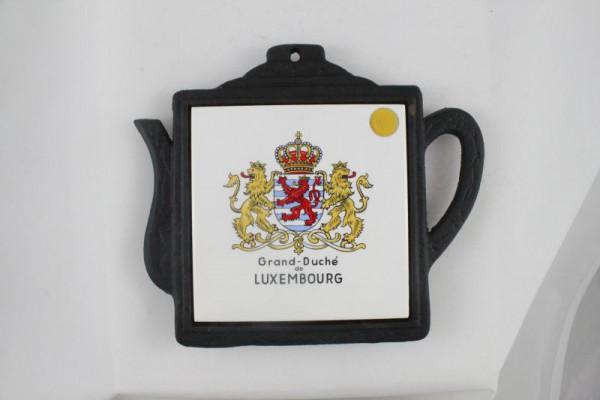 Untersetzer Luxembourg mit Kachel Motiv Wappen