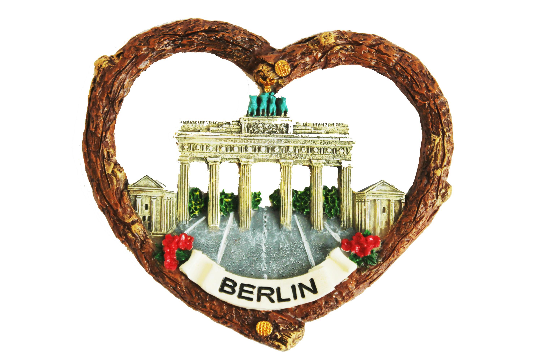 Schneekugel Berlin Brandenburger Tor gold 6,5 cm