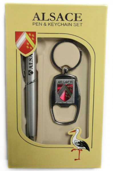 Set Alsace mit Schlüsselkette und Kugelschreiber