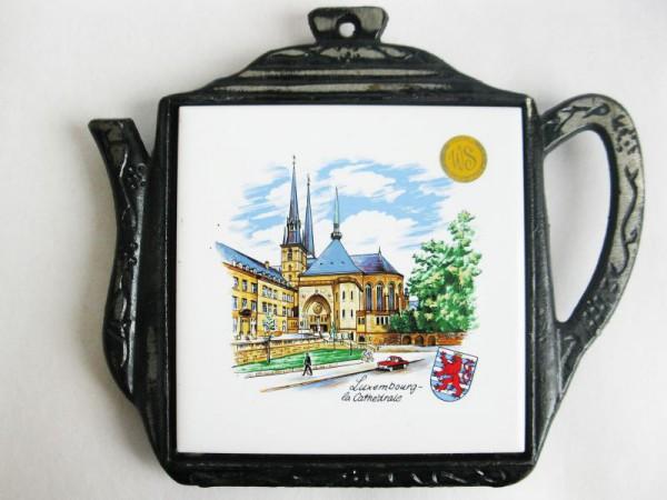 Untersetzer Luxembourg mit Kachel Motiv Cathedrale