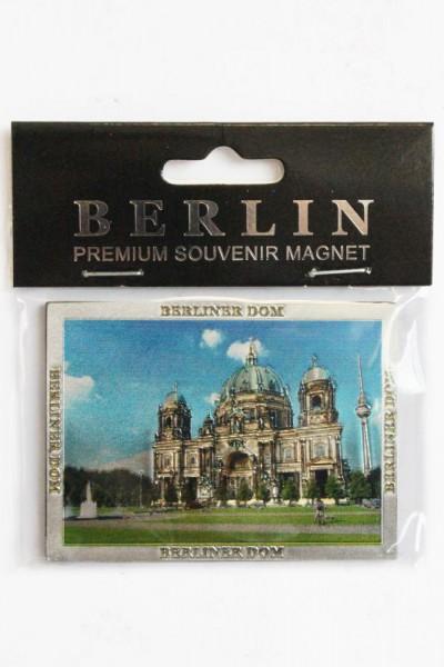 """Magnet """"Berliner Dom"""" silber geprägt und glitzernd 7.5*5.5cm"""